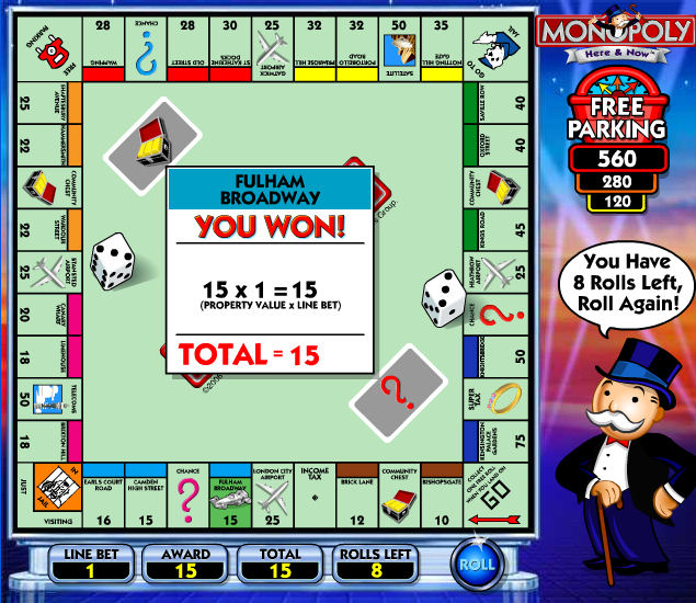 The Monopoly Here And Now Slot Game Bonus Features